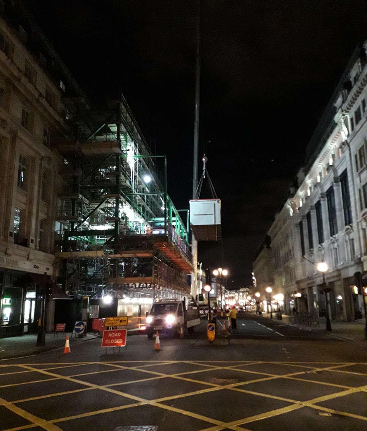 Night move on Regent Street